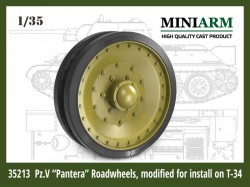 "Pz.V ""Pantera"" Roadwheels, modified for install on T-34"