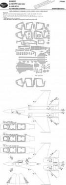 Su-27UB EXPERT kabuki masks