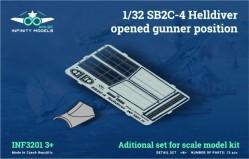 SB2C-4 Helldiver opened gunner position