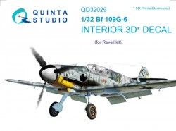Bf 109G-6 Interior 3D Decal