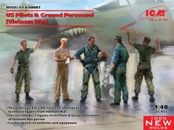 US Pilots & Ground Personnel (Vietnam War) (5 figures) (100% new molds)