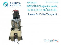 GRU-7A ejection seats for F-14A (2pcs) Interior 3D Decal