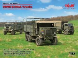 WWII British Trucks(Model W.O.T.6,Model W.O.T.8,Leyland Retriever General Serv