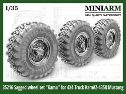 """Sagged wheel set """"Kama"""" for 4X4 Truck Kamaz-4350 (4pcs+extra )"""