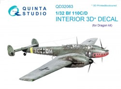 Bf 110C/D Interior 3D Decal