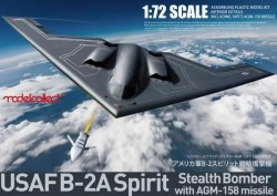 USAF B-2A Spirit Stealth Bomber with AGM-158 missile