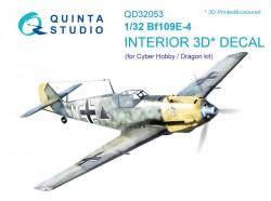 Bf 109E-4 Interior 3D Decal