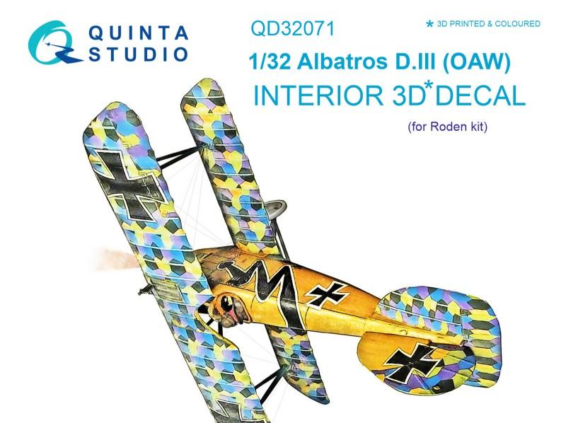 Albatros D.III OAW Interior 3D Decal