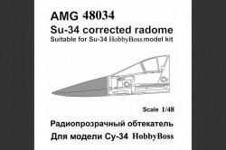 Su-34 aircraft radome with Pitot tube