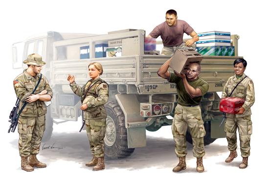 Modern U.S. soldiers – Logistics Supply Team