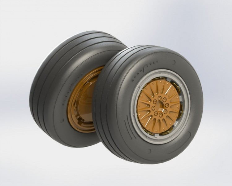 F-4 C, D, E, F Phantom II wheels set No mask series