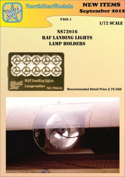 RAF Landing lights lamps holders