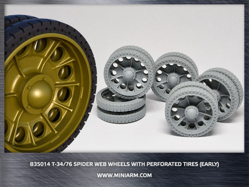 T-34/76 Spider web wheels with perforated tires (early version)    ( new edition 2017)