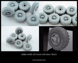 Sagged Wheel set Kama Ural-4320 RF (late) 6pcs +extra