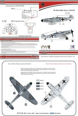 Bf 109  G-4/R3 reconnaissance (blue 4)