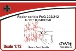 Radar aerials FuG 202 for Bf 110