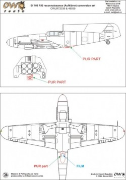 Bf 109 F/G camera RB50 cover & control box