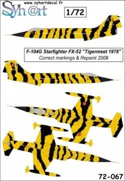 F-104G Starfighter FX-52 Tigermeet 1978 (true scheme)