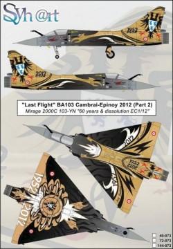 Last Flight BA103 Cambrai-Epinoy (Part 2) Mirage 2000C 103-YN