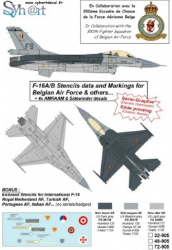F-16 Stencils + AMRAAM & AIM-9 Markings