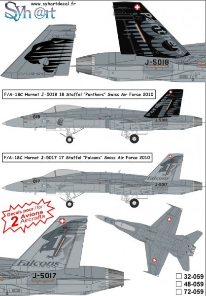 F/A-18C Hornet J-5017 & J-5018 Staffel 17 & 18 Swiss AF 2010