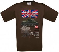 Tričko krátky rukáv Cromwell - L - Hnedá