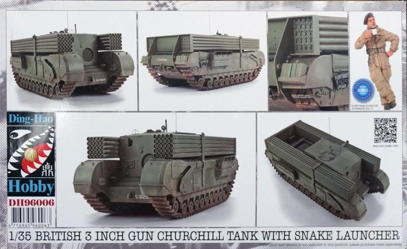 British 3 inch gun Churchill tank with snake launcher