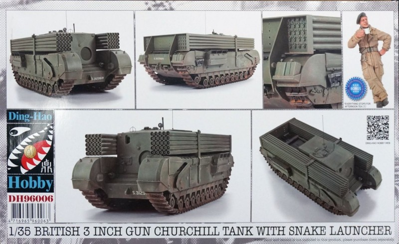 British 3 inch gun Churchill tank with snake launcher
