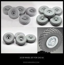 Wheel set for GaZ-66 4pcs +extra