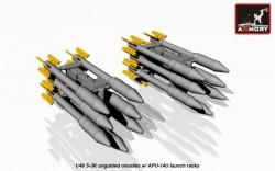 S-3K unguided missiles w/ APU-14U launcher racks, for Su-7B/BM/BKL/U, Su-17/-17M