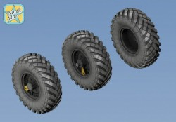 Wheels set for Soviet ZiL-157 / BTR-152