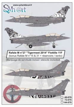 """Rafale M #27 """"Tigermeet 2014"""" Flottille 11F"""