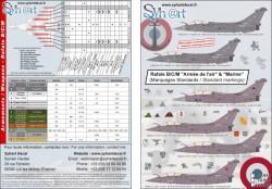 """Rafale B/C/M standards marks """"Armée de l'Air & Marine"""""""