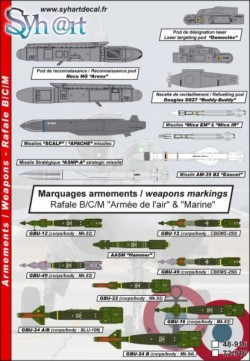Rafale B/C/M markings for weapons