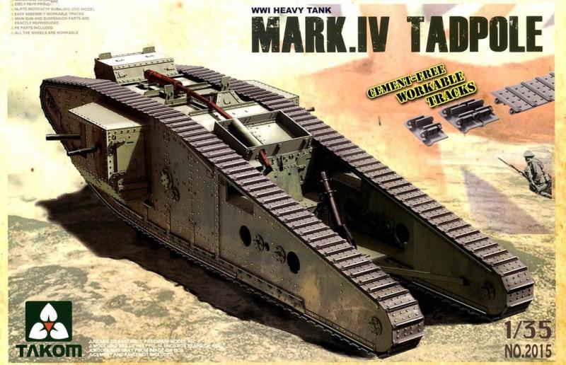 WWI Heavy Battle Tank Mark IV Male Tadpo