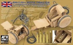 WW2 British Rota trailer W/2 Pounder Amm