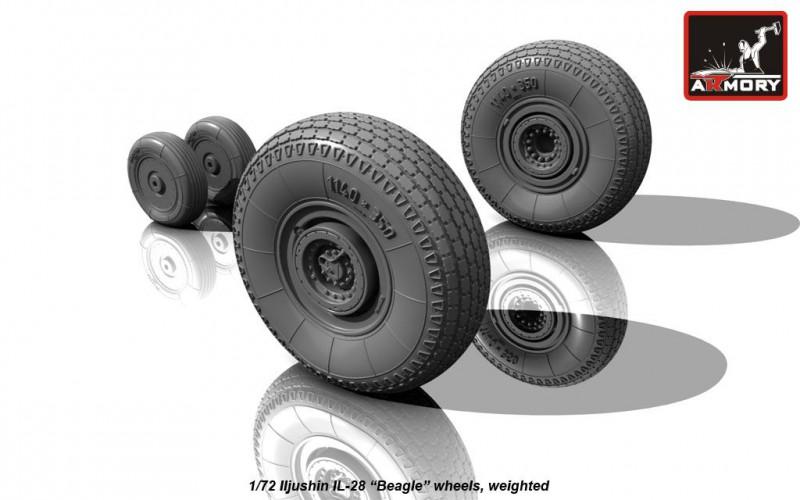 Iljushin IL-28 Beagle wheels, weighted