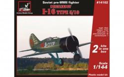 1/144 Polikarpov I-16 type 5/10, Soviet pre-WWII fighter