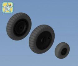 Fw.190 A/F/G/D wheels, Dunlop early main tire (thread) – No mask series