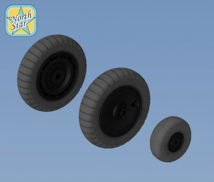 Fw.190 A/F/G/D wheels, Dunlop early main tire (thread) – No mask series