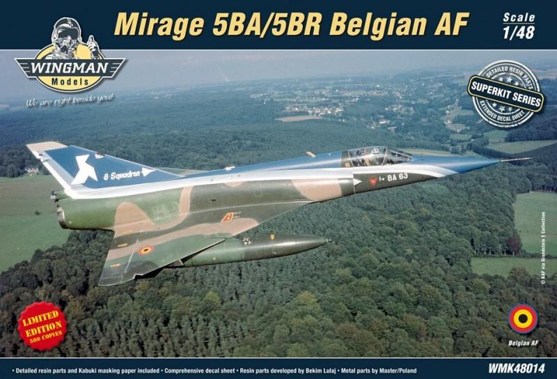 Mirage 5BA/BR Belgian AF (re-relase)