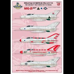 MiG-21 F-13 007 Defector to Israel
