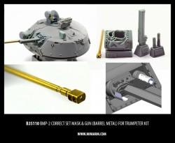BMP-2 Correct set, mask& gun, (barrel metal)