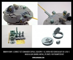 BMP-2 Correct set, comander cupola, sign BPK-1-42, infra-red searchlight OU-3/OU-5