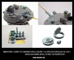 BMP-2 Correct set, comander cupola, sign BPK-1-42, infra-red searchlight OU-3/OU-5