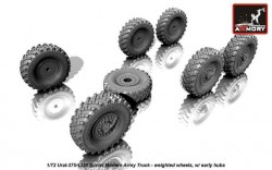Ural-375/4320 weighted wheels w/ early hubs