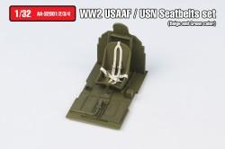 WW2 USAAF/USN Seatbelts set Type.1(Beige color)
