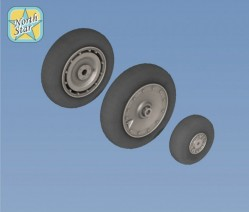 Fw.190 A/F/G/D wheels, late disk Continental tire (smooth)