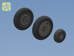 Fw.190 A/F/G/D wheels, Dunlop early main tire (thread)