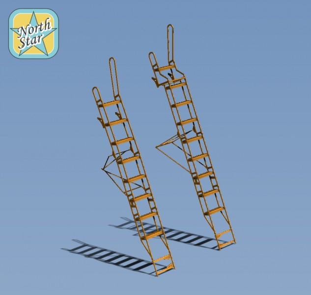 Two Ladders for Su-27UB Su-30 two seat fighter series